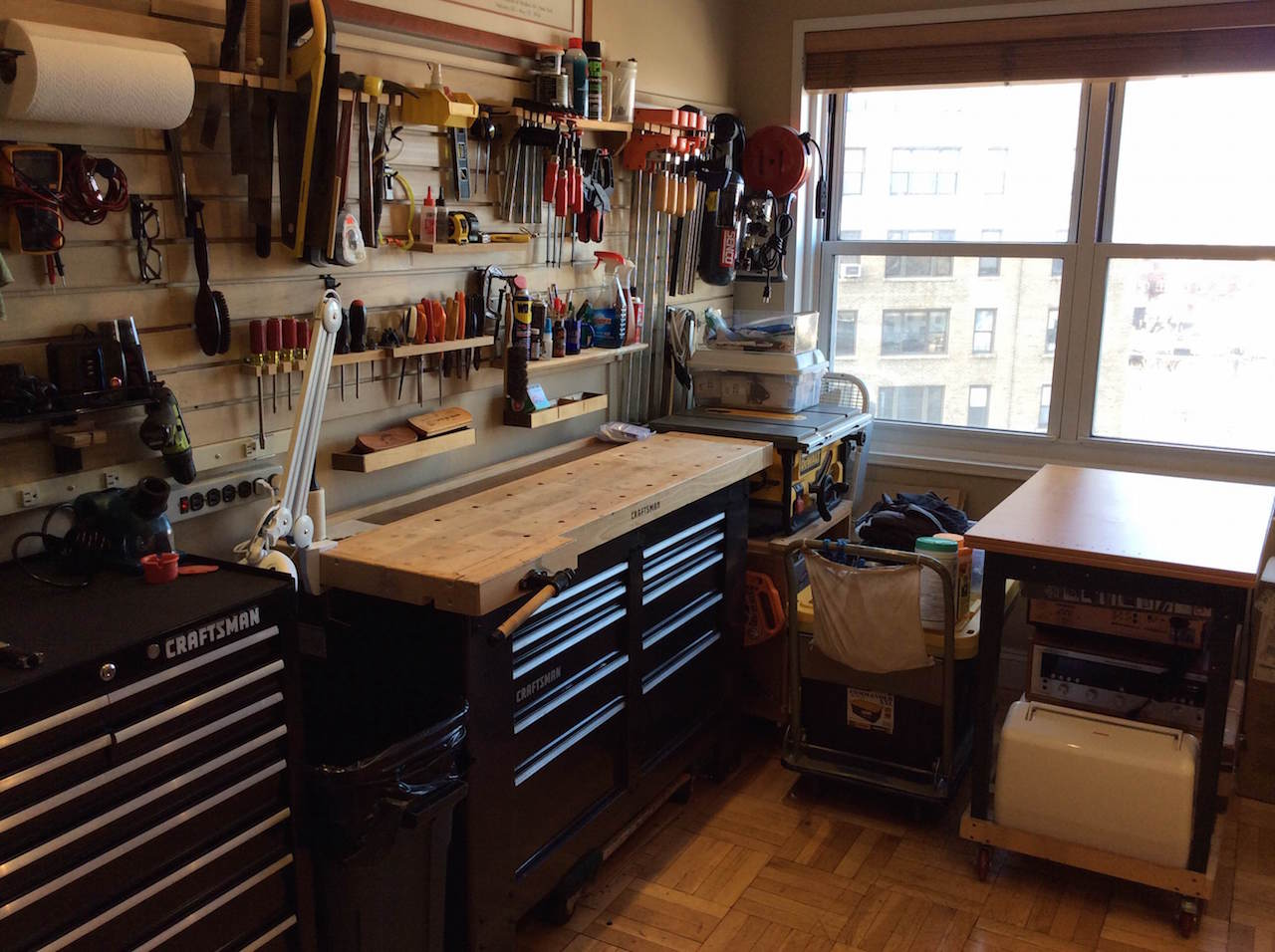Woodworking in Basement vs. in Apartment