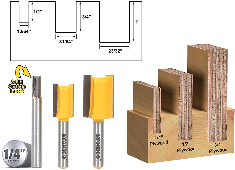 Yonico 14323 Plywood Dado Router Bits