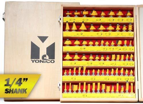 Yonico 17702q 70 Bit Router bit Set ¼ Inch Shank