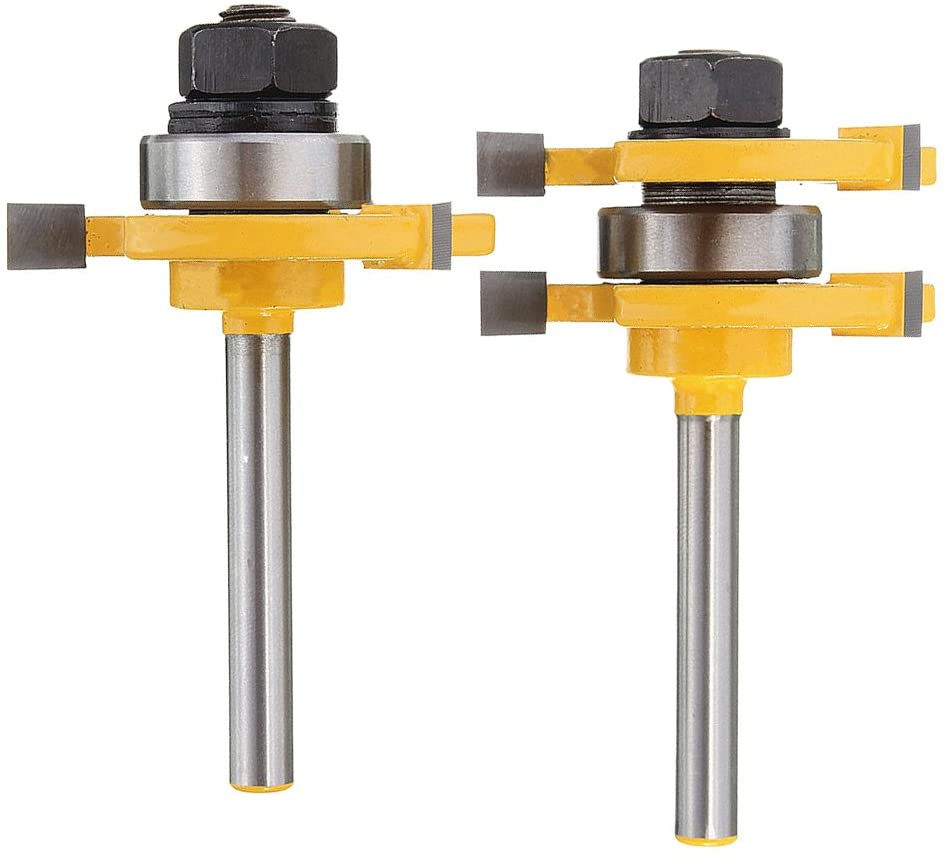 Yakamoz Shank Matched Tongue and Groove Router Bit Set