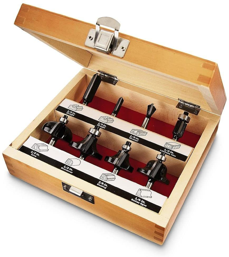 Craftsman 8-PC Router Bit Set