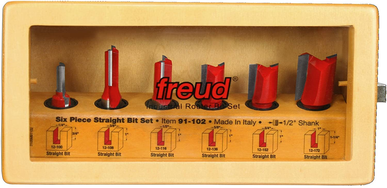 Freud 6 Piece Straight Bit Set