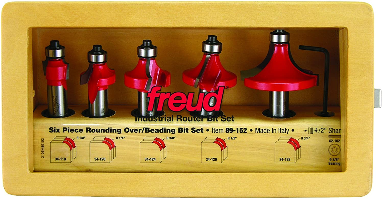 Freud 5 Piece Round Over/Beading Bit Set