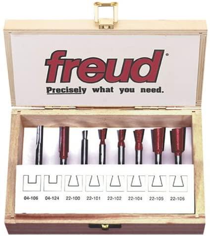 Freud 96-100 8-Piece Dovetail Incra Jig Router Bit Set