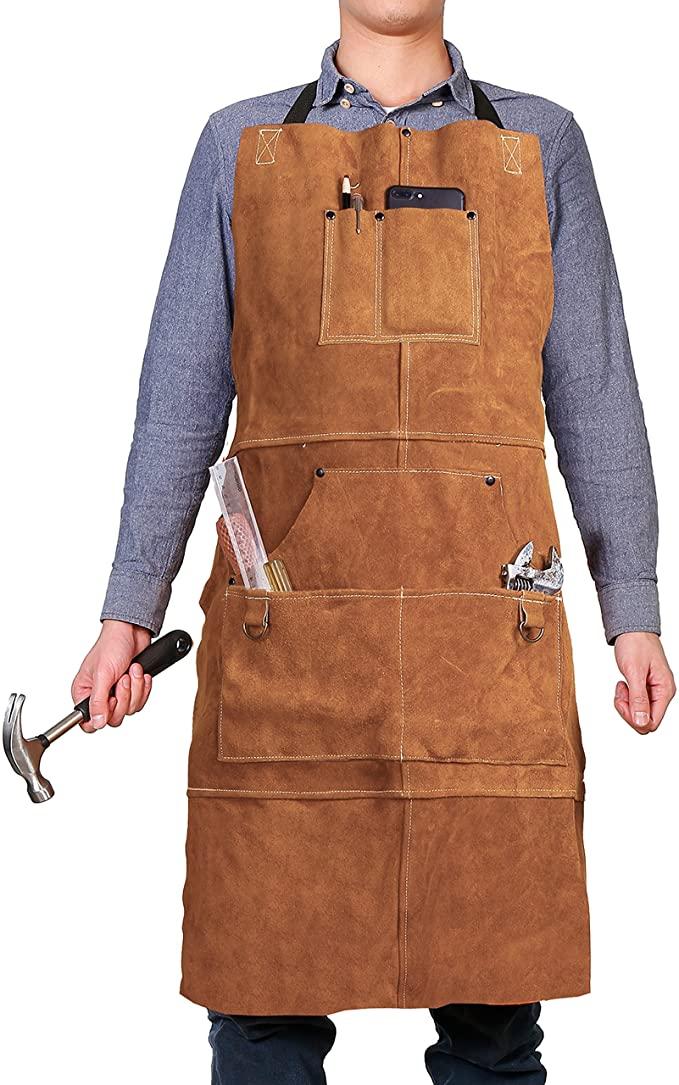 QeeLink Leather Work Shop Apron