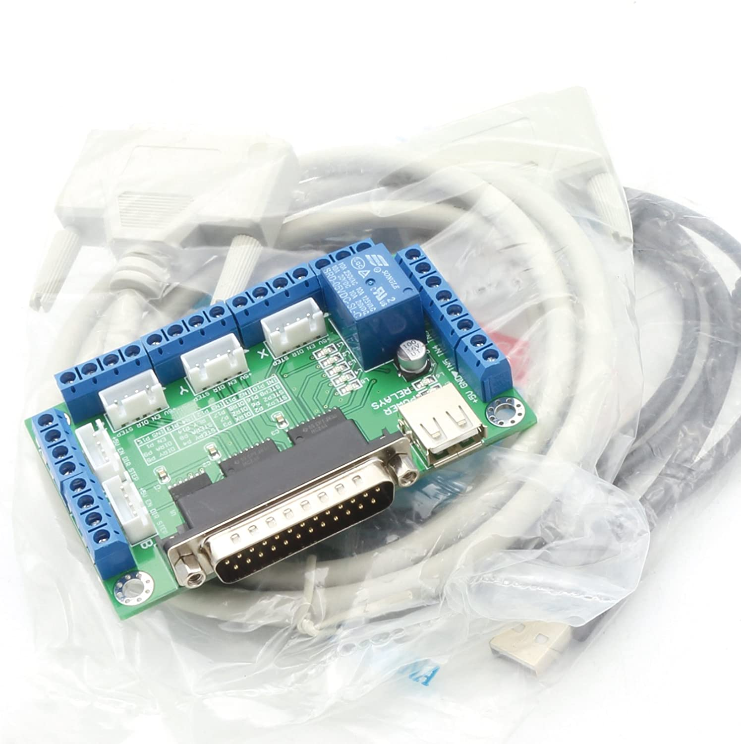 5 Axis Breakout Board interface Mach3 CNC Controller