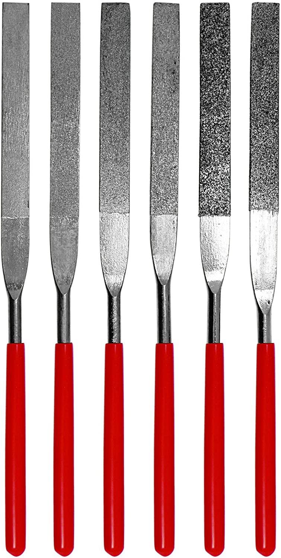 SE 6-Piece Flat Diamond Grit File Set - 74330DF