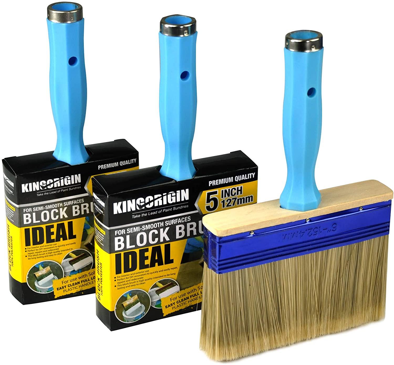 KingOrigin 3 Pack Heavy Duty Professional Stain Brush