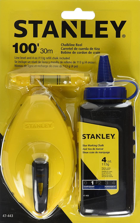 Stanley 47-443 3-Piece Chalk Line Set