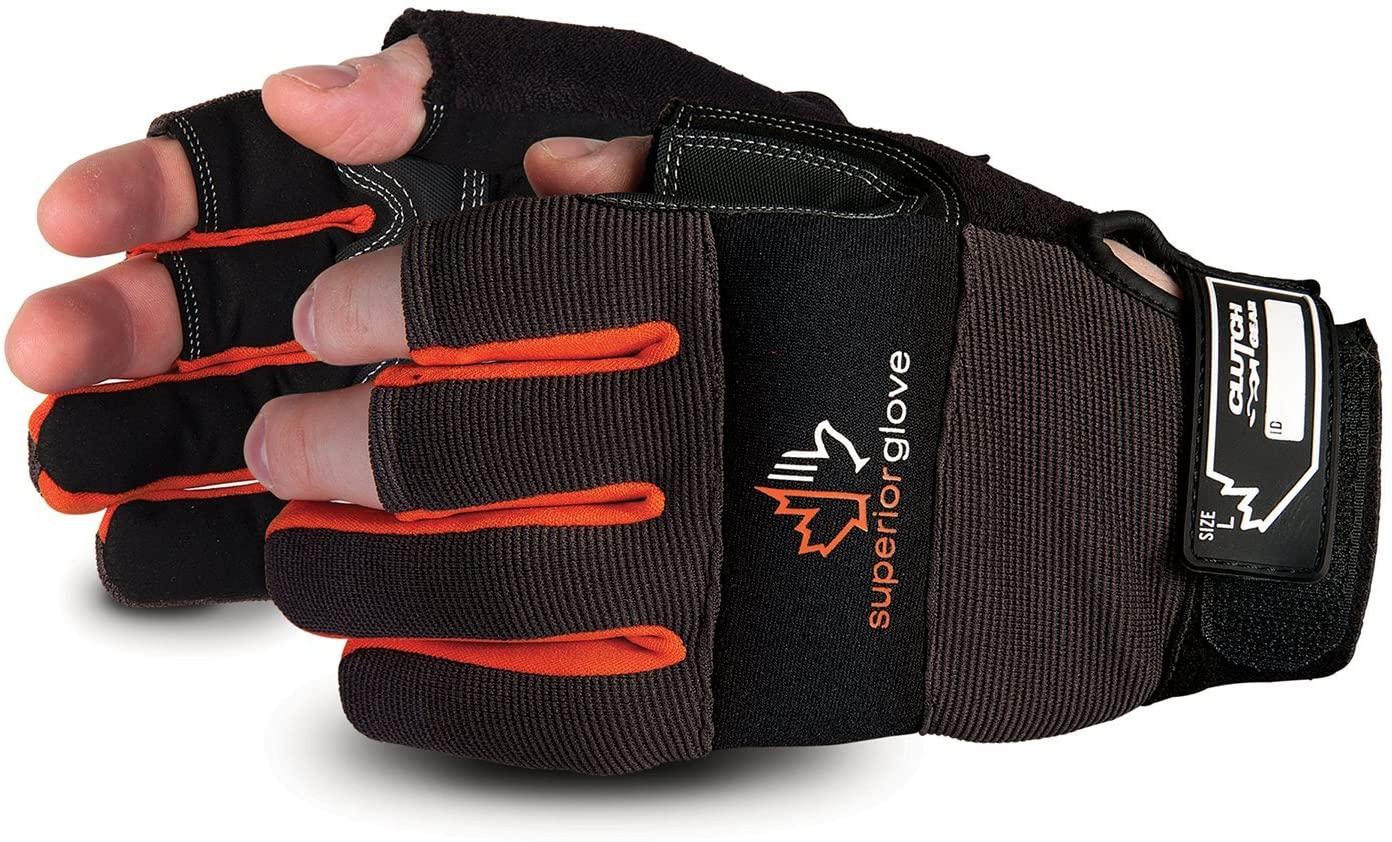 Superior Leather Open-Finger Framers Gloves