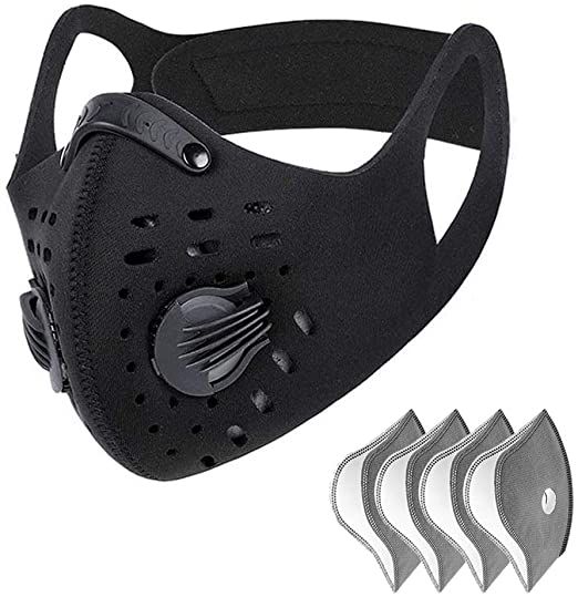 UltraTac Dust Mask with 4 Extra Activated Carbon Filters