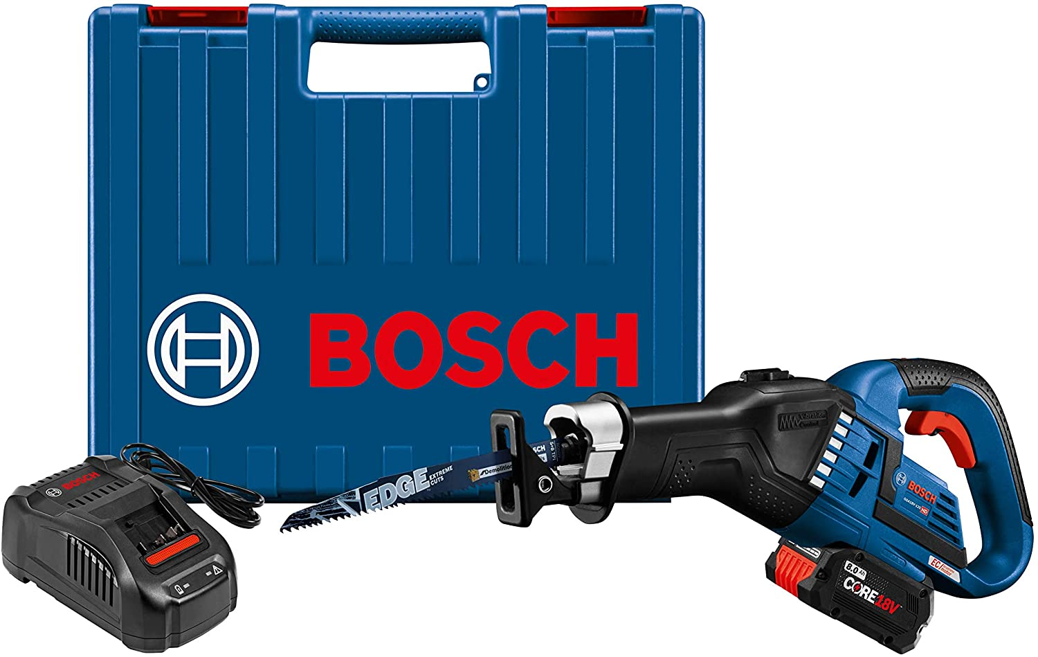 Bosch GSA18V-125K14A 18V EC Brushless 1.25 In. Stroke Multi-Grip Reciprocating Saw
