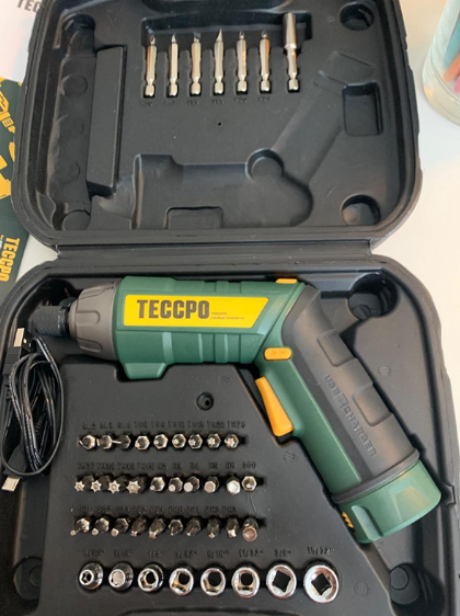 TECCPO Cordless Electric Screwdriver