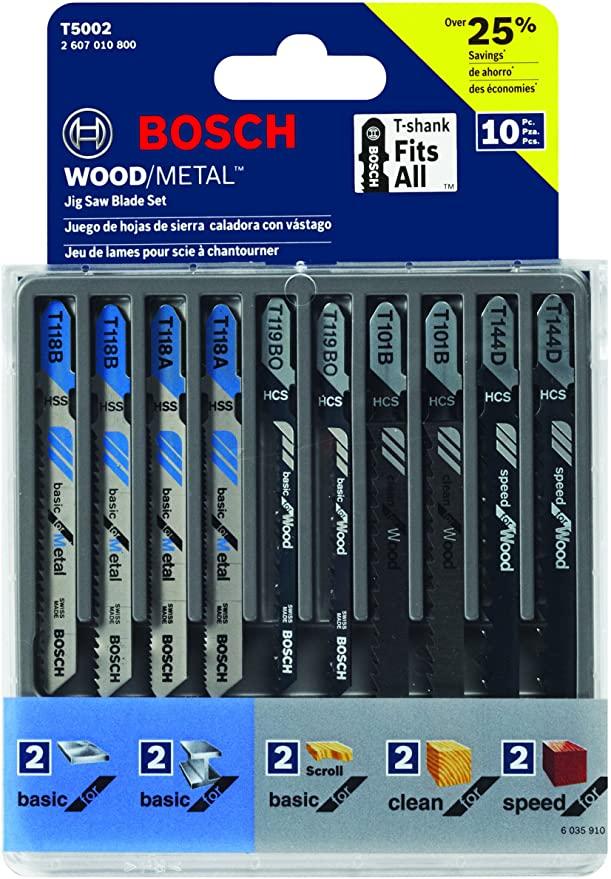 Bosch T-Shank JigSaw Blade Set T5002