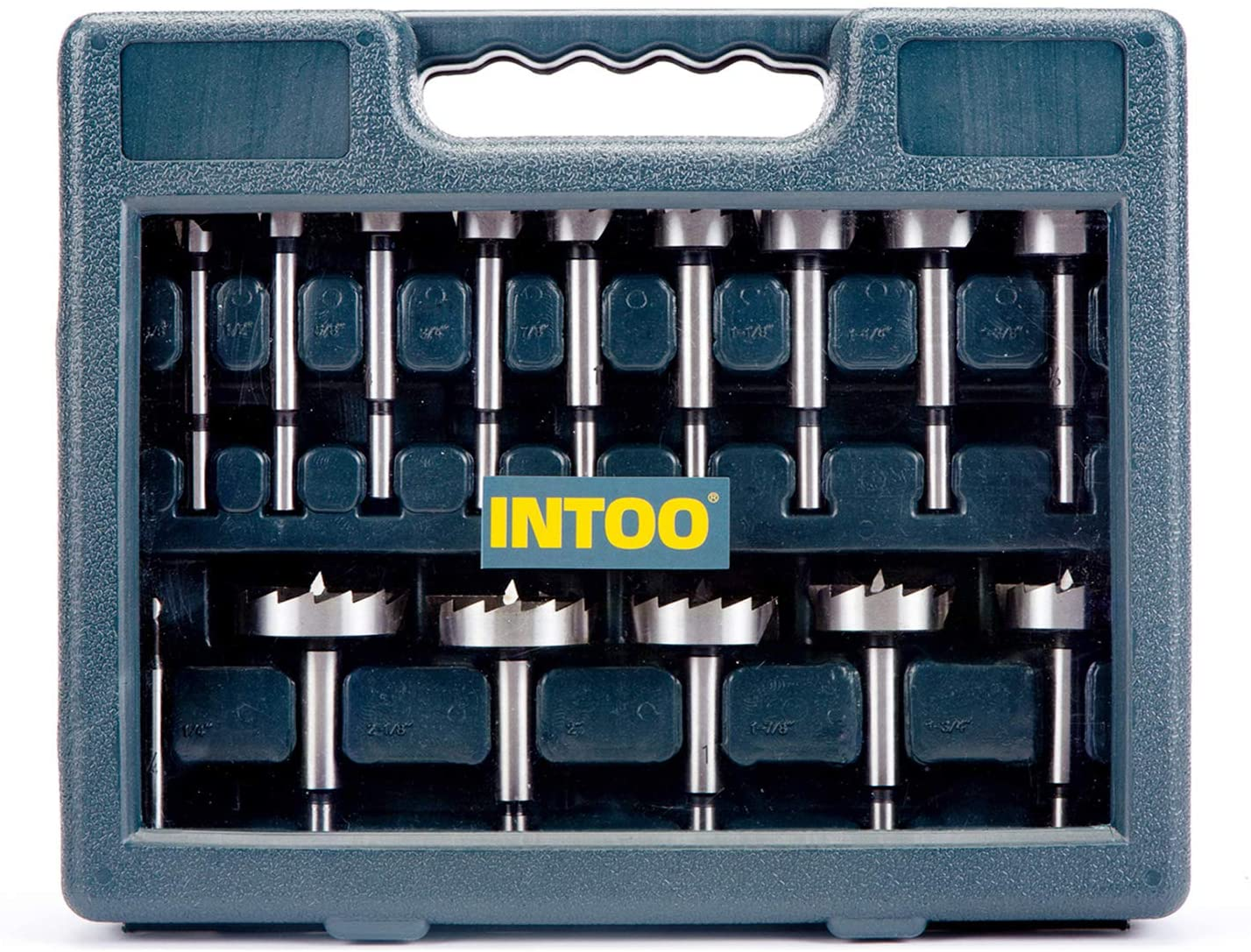 INTOO Forstner Bit Set 16 pcs Wood Drill Bit Set