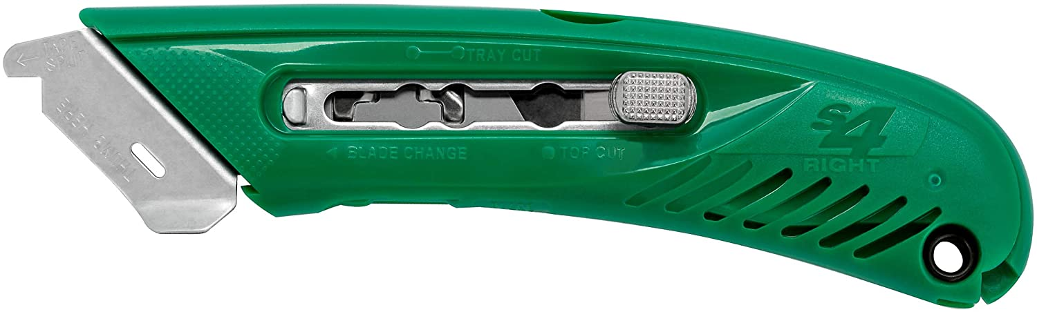 Pacific Handy Cutter S4R Safety Cutter, Retractable Utility Knife