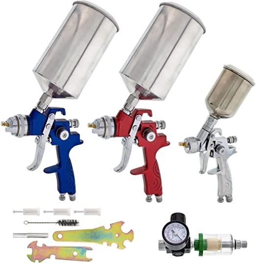 TCP Global Complete Professional HVLP Spray Gun Set