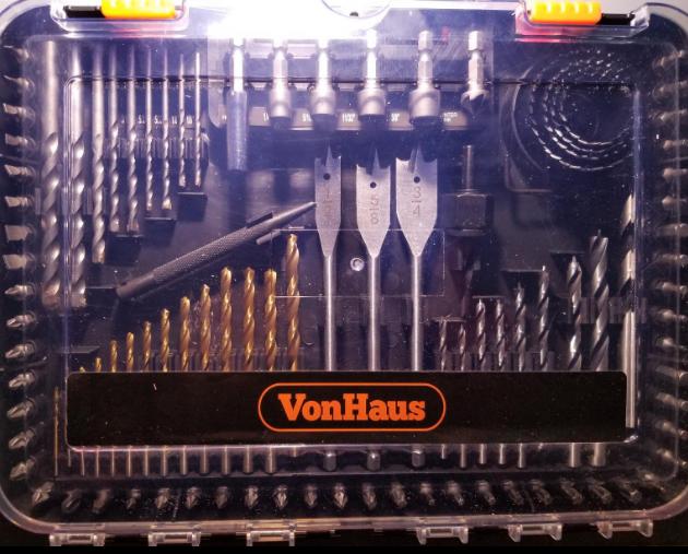 Von Haus 100 piece drill bit set