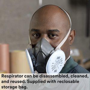 3M Half Facepiece Reusable Respirator 6300 View 2