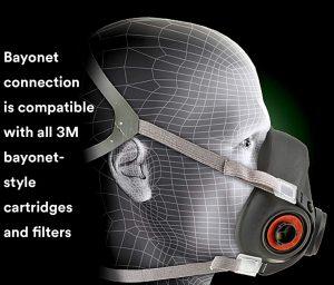 3M Half Facepiece Reusable Respirator 6300 View 3
