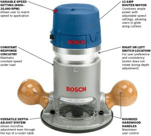 Bosch 1617EVS Router Kit view 1