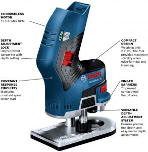 Bosch GKF12V-25N Wood Router View 1
