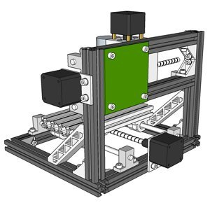 MYSWEETY DIY CNC Router Back View