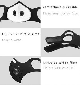 UltraTac Dust Mask with Activated Carbon Filters View 1