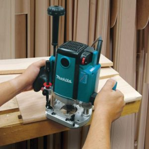 Makita Electric Brake Plunge Router View 1