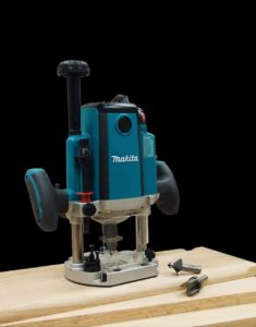 Makita Electric Brake Plunge Router View 2