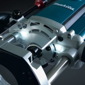 Makita Electric Brake Plunge Router View 3